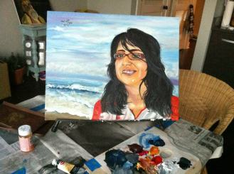 """Painting """"Happiness"""" 