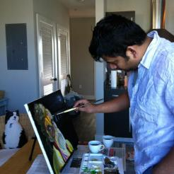 "Painting""The Content Sadhu"" 