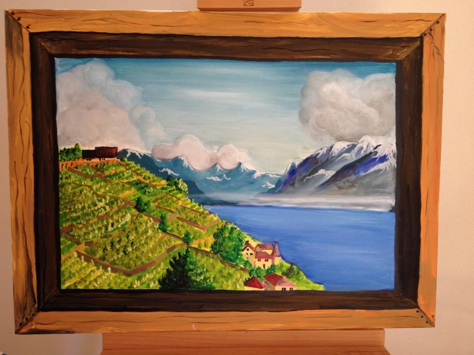 The Vineyards in Lausanne | Oil on Canvas