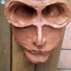 Eyes Wide Shut I Terracotta clay